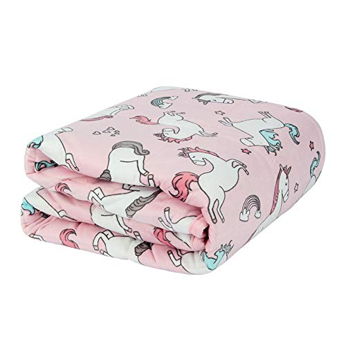 Halsy-Minky-Weighted-Blanket-for-Kids-5-lbs-36x48-Inches-Premium-Heavy-Blanket-for-Childs-Toddlers-with-Glass-Beads-Calm-Sleeping-Unicorn
