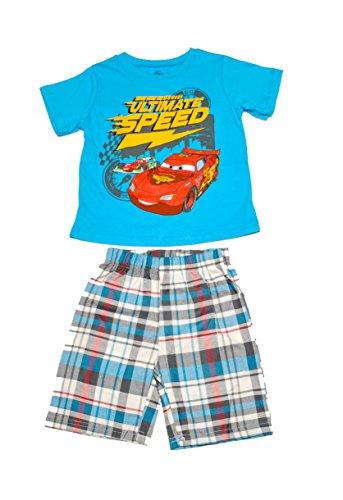 Cars Short Set - Disney Cars Boys Short Sets (2T, Blue)