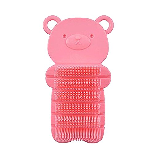 JINCH Nail Scrubber Brush Kids, Hands Finger Nails Scrub Scrubbing Cleaning Washing Brushes with Soft Bristle for Baby Toddler and Children, Animal Style and 2 Colors Choice (Pink)