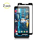 NiceFuse Google Pixel 2 XL Screen Protector Glass, Google Pixel 2 XL Tempered Glass Screen Protector 3D Curved Dot Matrix Google Pixel 2 XL 0.3mm (2-Pack) [Updated Adhesive Version]