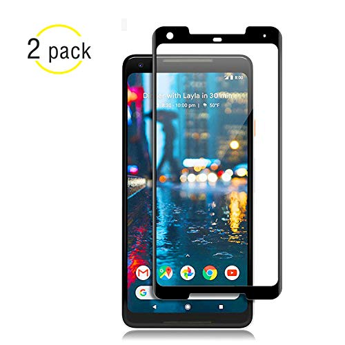 NiceFuse Google Pixel 2 XL Screen Protector [Easy to Install][HD - Clear][Case Friendly] Tempered Glass Screen Protector for Google Pixel 2 XL [2PACK][Black] by NiceFuse (Image #7)