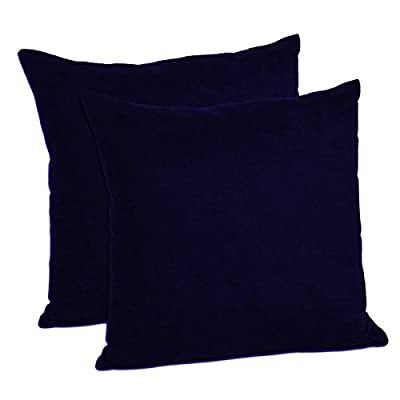 MoonRest - Pack of 2- Faux Suede Decorative Throw Pillow Case Cushion Cover (Set of 2)