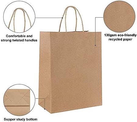 verdicken 130gsm Gaoyong 30 St/ück Geschenkt/üten 21*15*8CM,Papiert/üten mit Henkel,Papiert/üten,Schwarze Papiert/üten,Kraftpapier t/üten