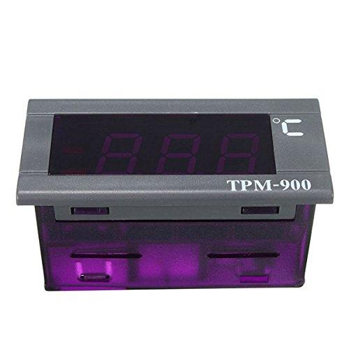 EsportsMJJ Mini-50 /° C /À 110 /° C 220V LED Digital Temperature Panel Thermom/ètre avec Capteur