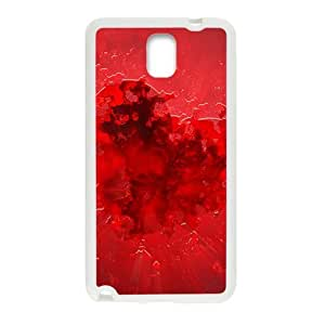 Fire red heart love personalized creative clear protective cell phone case for Samsung Galaxy Note3