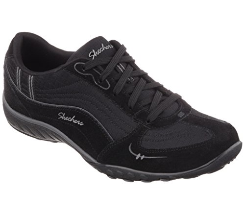 Skechers Relaxed fit Breathe Easy My Wish Womens Sneakers Black/Charcoal 9 W