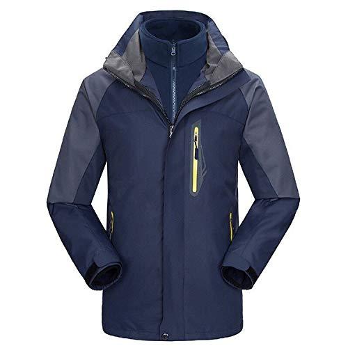 UINTA OUTERWEAR Mountain Ski Jacket (Removable Fleece Layer) (Navy, XL)