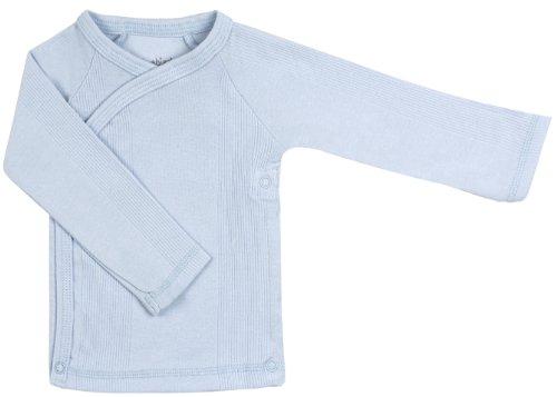 Kushies Unisex-baby Newborn Everyday Layette Long-Sleeve Wrap Tee, Blue, Preemie