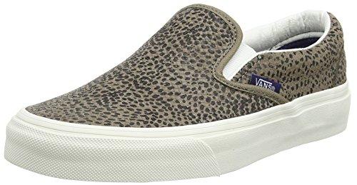 Vans Classic Slip-on, Unisex-Erwachsene Sneakers Nero (Cheetah Suede/Black/Tan)