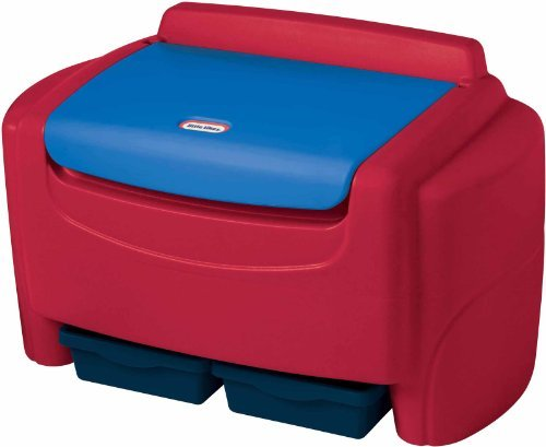 Sort 'n Store Toy Box Finish: Red