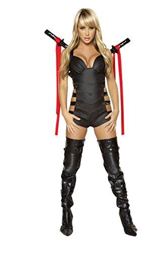 2 PIece Sexy Assassin Ninja Hit Woman Romper Costume