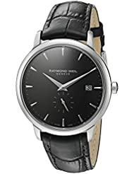 Raymond Weil Mens Toccata Quartz Stainless Steel Casual Watch, Color:Black (Model: 5484-STC-20001)