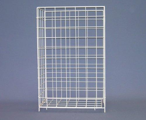 Sammelkorb Abfallkorb Korb Handtuch-Sammelkorb aus Drahtgeflecht Draht Metall weiß groß 41 x 25,5 x 63 cm Papierkorb