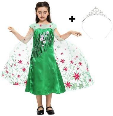 Katara 1842 Disfraz Elsa Frozen Fever Vestido Floral y Tiara 2-3 ...