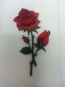 Valentine Red Rose Fingertip Towel Applique
