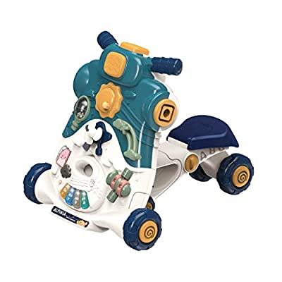 Baby Learning Walker Ride-On Walker Sit-to-Stand Push Walker with Activity Center,Game Table, Lights and Sound Seat Dining Chair Activity Center: Toys & Games