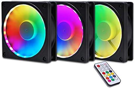 Amazon com: EZDIY-FAB RGB Fan Frame Fan Grill with ARGB Lighting