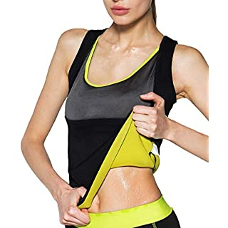 Women's Body Shaper Hot Sweat Slimming Sauna Vest Neoprene Shapewear for Tummy Fat Burner Weight Loss L