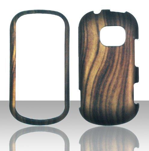 Lg Extravert Vn271 Rubber - 2D Wood Design LG Extravert Vn271 Verizon Case Cover Hard Case Snap-on Case Cover Rubberized Frosted Matte Surface Hard Shells