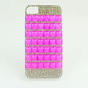 LCJ Colored Diamond Large Glass Hard Case for iPhone 4/4S
