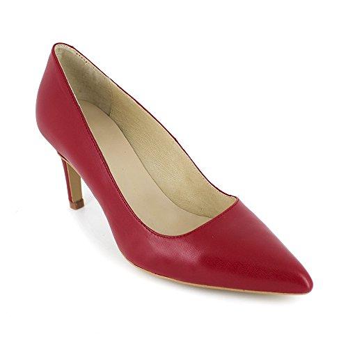 Stiletto Loca Lova Cuero Rojo