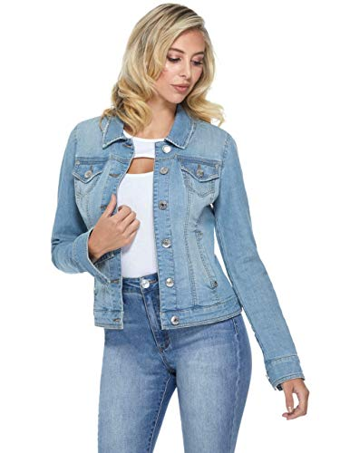 GUESS Factory Women's Alisana Basic Button Down Denim Jacket (Jacket Jeans Guess)