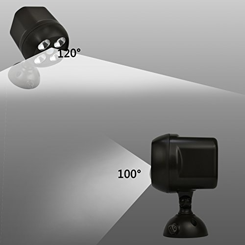 sale tonbux led lampe wasserdicht sensor licht bewegungsmelder kabellos scheinwerfer. Black Bedroom Furniture Sets. Home Design Ideas