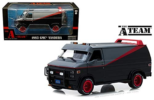 Greenlight 1:24 Hollywood - The A-Team - 1983 GMC Vandura,colors may vary
