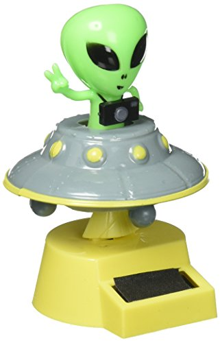 [Fun and Cute Toys For Halloween Solar Power Dancing Alien (with his/her flying Saucer)] (House With Dancing Halloween Lights)