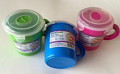 Sure Fresh 23.5 Oz to Go Soup Mug (2 Pack) Colors May Vary