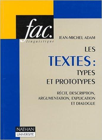 Lire en ligne Les Textes, types et prototypes pdf ebook