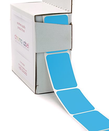 "1"" x 1-1/2"" Square, Light Blue Color-Code Labels 