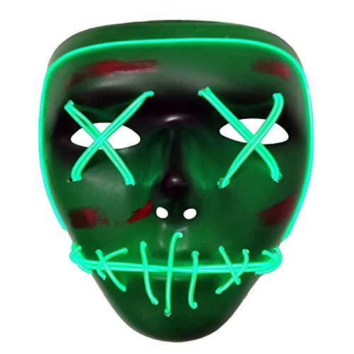 AUHOO Halloween Masks for Kids Light up Purge Mask LED Power Mask Scary Mask Rave Halloween Costumes