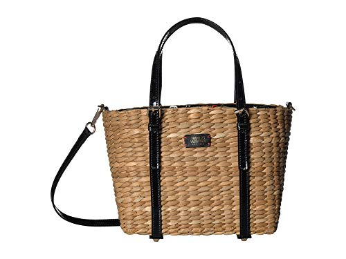 (Frances Valentine Women's Small Tote Bag, Natural/Black, One Size)