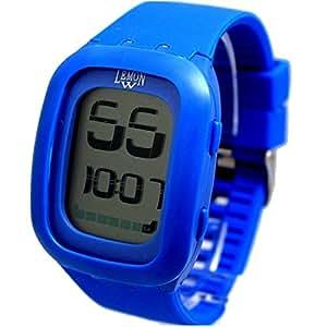 Alexis Unisex Rectangular Reloj Digital Azul Correa de Silicona Suave Blanco Marcar Cronógrafo Luz Trasera 12/24h formato: Amazon.es: Relojes