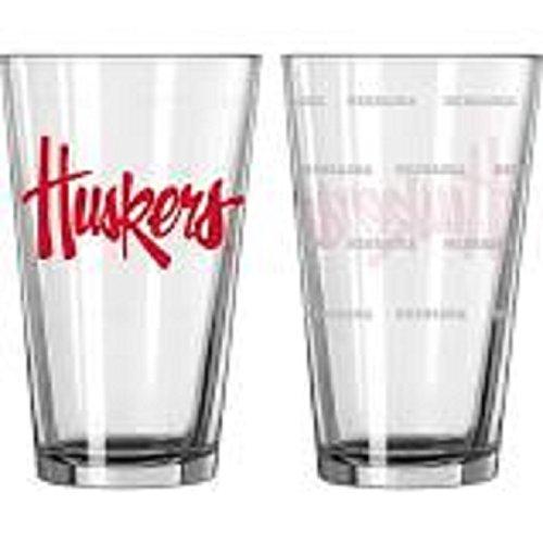 (Nebraska Huskers Satin Etch Pint Glass Set)