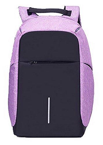 Dos Violet à Zippers AalarDom TSFBH181065 Daypack Sacs Mode Daypacks de Femme Dacron Randonnée wxSaqZgn