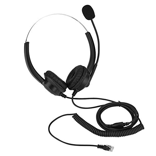 Lazmin Call Center Telephone Headset, 360° Rotary Earmuffs Cordless Phone Headset Lossless Sound Call Center Headphone(#1) from Lazmin
