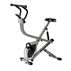 Sunny Health & Fitness Exercise Bike 2 in 1 Upright Bike and Rowing Machine SF B2620