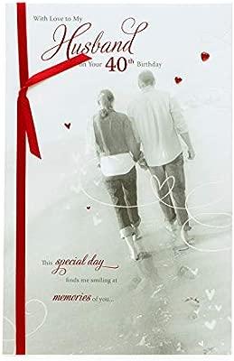 Tarjeta de felicitación de 40 cumpleaños para marido, con ...