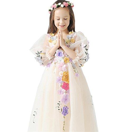 [Kiccoly Girls Graduation Dress Age 10-11T Years Girl Casual Dance Dress Festival Performance Dress] (Dance Festival Costumes)