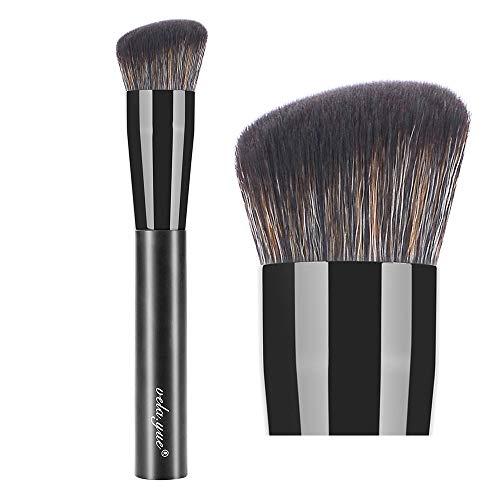 vela.yue Synthetic Rounded Slant Liquid Foundation Makeup Brush Buffing Blending Thick Liquid ()