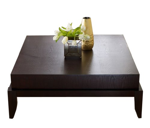 Low Square Mirrored Coffee Table: Low Profile Coffee Tables