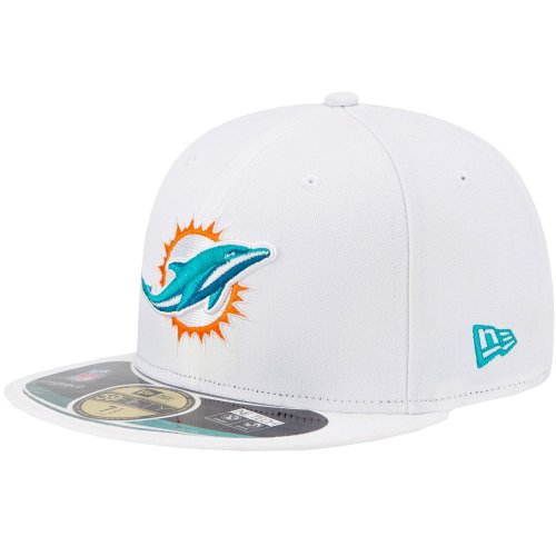 Miami Dolphins New Era NFL On Field Alternate 59Fifty Fitted Hat (White) 7 3/8