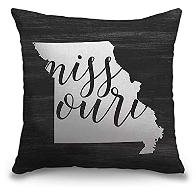"""CANVAS ON DEMAND Inner Circle 16""""x16"""" Outdoor Polyester Throw Pillow - Home State Typography - Missouri: Kitchen & Dining"""
