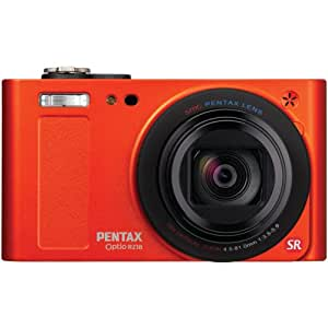 Pentax Optio RZ18 16 MP Digital Camera with 18X Extra Wide Optical Zoom and 3.0-Inch LCD Screen (Orange) (Discontinued by Manufacturer)