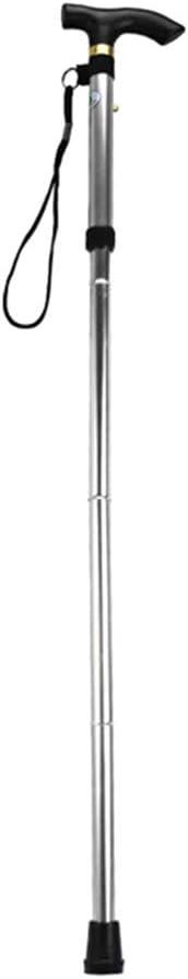 Walmeck Bast/ón Plegable port/átil de Mano de Aluminio Bast/ón para Caminar Senderismo Palos de Senderismo Bastones Ajustables Antideslizantes de 4 Secciones con Mango c/ómodo