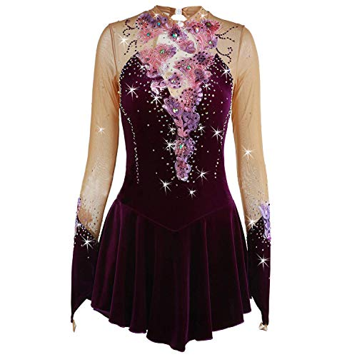 Amazon.com: WANGYONGQI Figure Skating Dress for Girls ...
