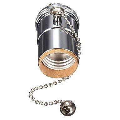 LED Lights E27 Light Bulb Socket Lamp Holder Pendant Light Adaptor Metal Shell Vintage Pendant lamp Metal Holder with Pull Chain Switch Industrial Light Socket