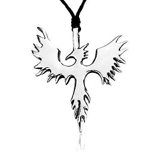 "Dan's Jewelers ""Mythos Collection"" Phoenix Bird Necklace Fantasy Firebird Pendant, Fine Pewter Jewelry"